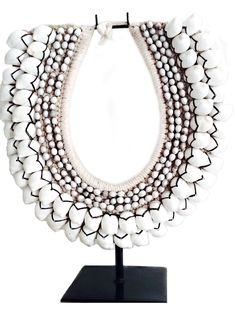 Bali Handmade Cowrie Shell Tribal Necklace - $60  + various styles/colors available*