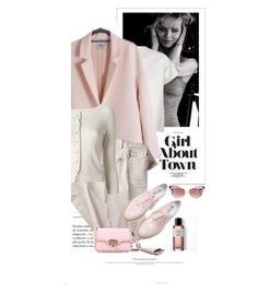 """""""De Retour En Ville / Back In Town"""" by halfmoonrun ❤ liked on Polyvore featuring Front Row Shop, Yves Saint Laurent, 7 For All Mankind, Pinko and Valentino"""
