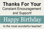 Wish Happy Birthday to Your Teacher and say Thanks for best learning by print on birthday banner online from www.bannerbuzz.ca