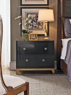 New Bedroom Black Furniture Wall Color Night Stands 34 Ideas Home Bedroom, Bedroom Furniture, Master Bedroom, Bedroom Decor, Bedroom Black, White Furniture, Bedroom Colors, Black Painted Furniture, Refinished Furniture