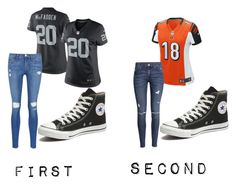 """""""My Two Teams"""" by dan-is-not-on-fire ❤ liked on Polyvore featuring NIKE, Frame Denim, Converse and H&M"""