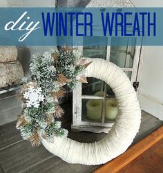 DIY winter wreath | Wife in Progress