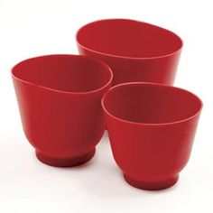 Amazon.com: Norpro 3 Piece Silicone Bowl Set, Red: Kitchen & Dining