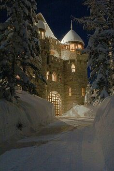 Castle Magic in Sandpoint, Idaho.I've been to Sandpoint, but never got to see the castle. Beautiful Castles, Beautiful Places, Beautiful Buildings, Beautiful Scenery, Oh The Places You'll Go, Places To Travel, Vila Medieval, Sandpoint Idaho, Winter Szenen