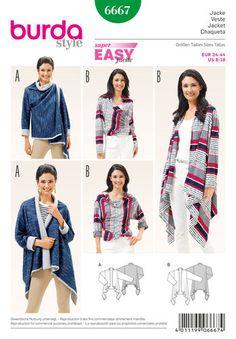 Burda Style Pattern 6667 Women's Jacket