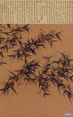 Китайская и японская живопись. Вэнь Тун почитается в Китае, как непревзойденный мастер бамбука, равного которому не было в истории