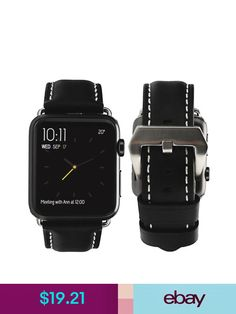 8bac2d27feb Apple Watch Band Genuine Leather Strap Replacement 42mm 38mm iWatch ...