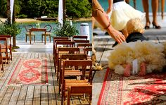Vintage persian rug aisle runner - available to hire in Sydney Australia - alittlecharacterfurniturehire.com