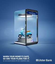 Ulster Bank Print Advert By Boys + Girls: Protect Your Plans - Holiday, Scooter | Ads of the World™