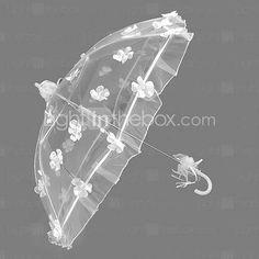 laço branco auto guarda-chuva casamento de abertura (ktb005)