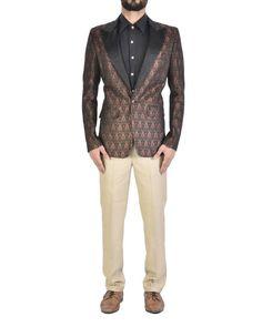 Black brocade jacket  |  Shop now: www.thesecretlabel.com