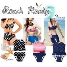 Beach Ready #beach #bikini #bathingsuit #swimsuit #mother #daughter #matching #outfits