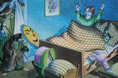 Post Card Mainzer Cats Scare Attack Pristine Condition 1970's