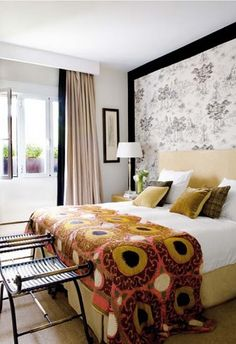 Nice bed cover  #bedroom décor, beds, headboards, four poster, canopy, tufted, wooden, classical, contemporary bedroom, nightstand, walls, flooring, rugs, lamps, ceiling, window treatments, murals, art, lighting, mattress, bed linens, home décor, #interiordesign bedspreads, platform beds, leather, wooden beds, sofabed