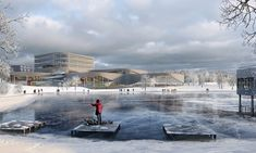 3XN Architects - Aquatic Center in Sweden