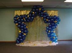 decoracion con globos para graduacion - Buscar con Google 40th Birthday Balloons, Graduation Balloons, School Parties, Grad Parties, Birthday Parties, Star Decorations, Balloon Decorations, Christmas Decorations, Ballon Arch