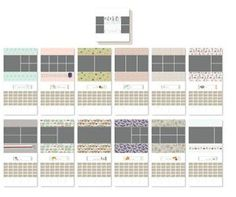 2014 - A year Celebrated Calendar Template - Digital Download