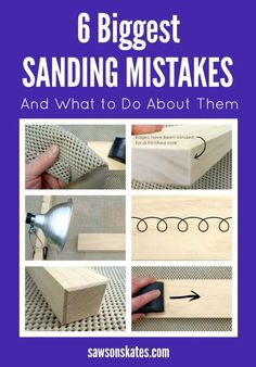 Everything you wanted to know about sanding. types of sandpaper how to protect your lungs how to prevent your project from moving while sanding how to make sanding marks more noticeable proper sanding techniques plus more hints and tips to sand you Woodworking Joints, Learn Woodworking, Woodworking Workshop, Woodworking Techniques, Popular Woodworking, Woodworking Furniture, Woodworking Projects Plans, Wood Furniture, Furniture Plans