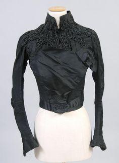 1887 Bodice Culture: American Medium: silk