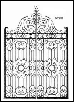 antique iron gates - Google Search