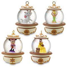 Boules à neige disney de Noël  : 4 figurines à l'intérieur - décoration de Noël