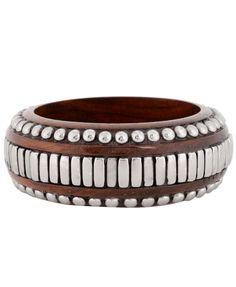 Studded Wooden Bracelet