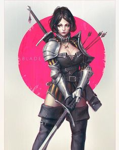 Blade~ Some character design/illustration practice   #illustration #drawing