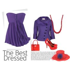 """""""Red Hat Society - Red Hatter"""" by obsidian-star on Polyvore"""