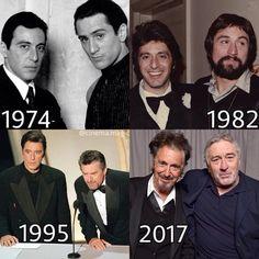 Al Pacino & Robert De Niro my two fav actors! Hollywood Actor, Hollywood Stars, Classic Hollywood, Motivation Sportive, Sport Motivation, Health Motivation, Famous Men, Famous Faces, Old Movies
