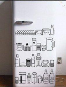 Magicskins fridge wrap refrigerator vinyl skin door decal - Vinilo decorativo cristal ...