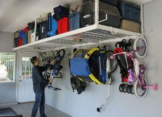 <p> The garage is one of the most cluttered spaces in the whole house. Too often it becomes a dumping ground for sports equipment, lawn tools, off-season decorations, and workshop tools that somehow never get put back properly. Luckily, an entire subset of the organization business is set up to help you find great ideas for your garage storage problems. </p> <br> <p> A few best practices will help you bring calm to the chaos. Many items stored in the garage are seasonal, so get the most out…
