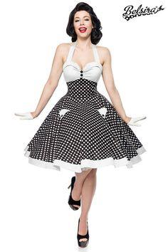 mit Bolero Hearts and Roses Kleid Cute White Dottie-Punkte-Rockn Roll-50´s