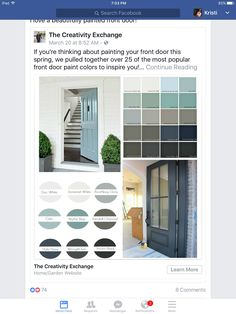 Front Door Paint Colors Weve pulled together over 30 of the most popular front door paint colors that can really add beautiful curb appeal.Weve pulled together over 30 of the most popular front door paint colors that can really add beautiful curb appeal. Exterior Door Colors, Front Door Paint Colors, Painted Front Doors, House Paint Exterior, Paint Colors For Home, Best Front Door Colors, Paint Colours, Diy Exterior, Paint For Front Door