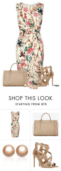 """""""Easter Sunday"""" by marion-fashionista-diva-miller ❤ liked on Polyvore featuring moda, Lipsy, Yves Saint Laurent, Amour de Pearl, Tamara Mellon, Vieste Rosa, springfashion, floraldress, contestentry e eastersunday"""