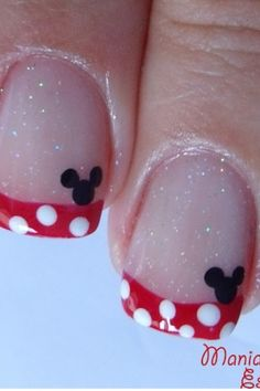 Minnie Mouse Nails, But of course I would rather PINK over Red lol