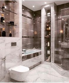Contemporary bathrooms 372109987962298408 - On the off chance that your restroom is stuck in a Brady Bunch (or more awful yet, Leave it to Beaver) time travel, I thoroughly comprehend your torme… Source by Dream Bathrooms, Beautiful Bathrooms, Small Bathroom, Bathroom Ideas, Bathroom Renovations, Bathroom Marble, Master Bathrooms, Relaxing Bathroom, Zen Bathroom