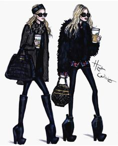 Some Olsen inspiration circa 2007. They definitely made oversize + carrying Starbucks a thing! Hayden Williams
