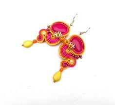 Dangle Earrings Soutache Earrings Juicy Colors by IncrediblesTN, $29.00
