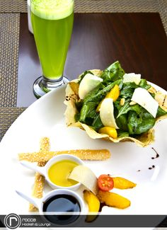 Try our Signature rocca Salad... Only @ rocca Hookah & Lounge.    For reservations, please call 079 86 86 000