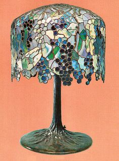 Art Nouveau lamp by Tiffany.