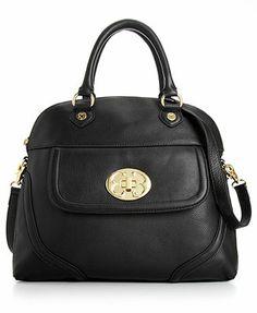 Classics Leather Dome Satchel - All Handbags - Handbags & Accessories - Macy's Emma Fox, Satchel Handbags, Handbag Accessories, Leather Backpack, Backpacks, Shoulder Bag, Purses, My Style, Classic