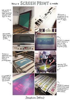 How a screen print is made - Artist process - Screenprinting - Hand printing - Print Workshop