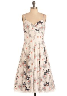 Let's Make a Daffo-Deal Dress in White, #ModCloth
