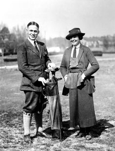 Atlanta's most famous golfers, Bobby Jones and Alexa Stirling, ca. 1923 #golf #legends