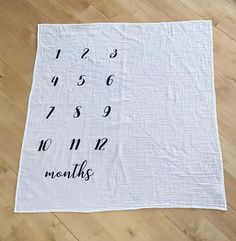 Your place to buy and sell all things handmade Monthly Pictures, Baby Milestone Blanket, Baby Month Stickers, Muslin Blankets, Baby Growth, Photo Blanket, Floral Baby Shower, Baby Milestones, Silhouette Projects