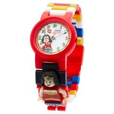 LEGO® DC Super Heroes Wonder Woman Kids Interchangeable Link Watch - Red