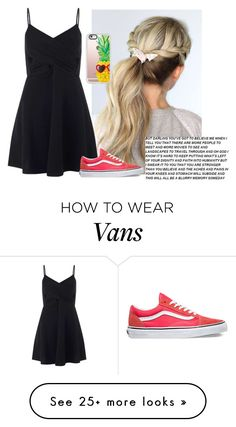 """""""We wouldnt be the same without pain"""" by tay-tay-marie on Polyvore featuring Miss Selfridge, Vans and Casetify"""