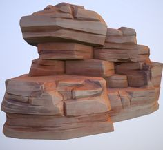ArtStation - Cartoon Desert Rock, Alexey B.