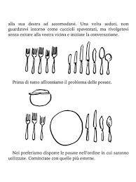 immagini di buone maniere - utile per preparare la tavola