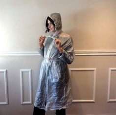Vintage Clear Vinyl Rain Coat Transparent See Through Long Blue Raincoat, See Through, Plus Size, Stuff To Buy, Vintage, Etsy, Fashion, Plastic, Moda